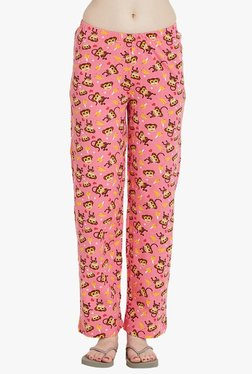 Blush By PrettySecrets Pink Printed Pyjamas