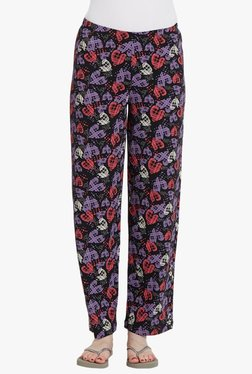 Blush By PrettySecrets Black Printed Pyjamas