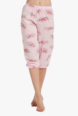 Blush By PrettySecrets Pink Printed Cropped Pyjamas