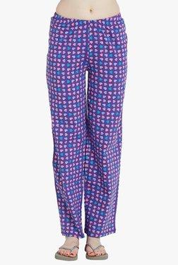 Blush By PrettySecrets Purple Heart Print Cotton Pyjamas