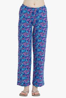 Blush By PrettySecrets Blue Floral Print Cotton Pyjamas