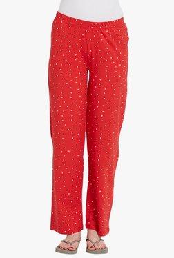 Blush By PrettySecrets Red Printed Cotton Pyjamas