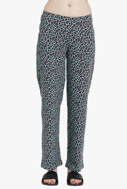 Blush By PrettySecrets Blue Printed Cotton Pyjamas