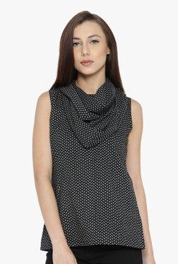 Jaipur Kurti Black Printed Cotton Top