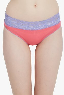 Blush By PrettySecrets Coral Lace Hipster Panty