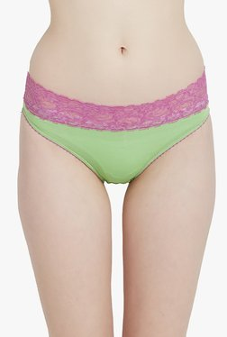 Blush By PrettySecrets Green Lace Hipster Panty