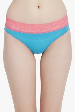 Blush By PrettySecrets Blue Lace Hipster Panty