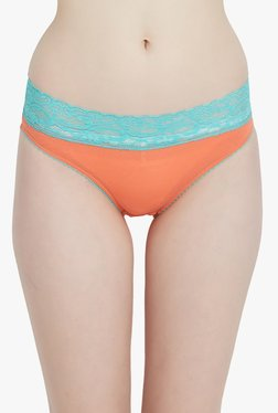 Blush By PrettySecrets Orange Lace Hipster Panty