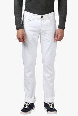 Parx White Slim Fit Jeans