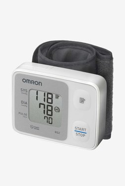Omron HEM-6121 Automatic Wrist Blood Pressure Monitor (White)