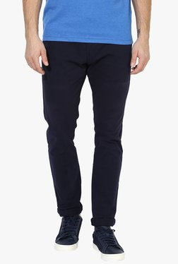 Red Tape Navy Slim Fit Low Rise Chinos