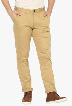 Red Tape Beige Slim Fit Low Rise Chinos