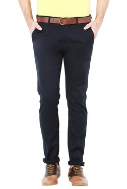 Van Heusen Navy Mid Rise Cotton Chinos