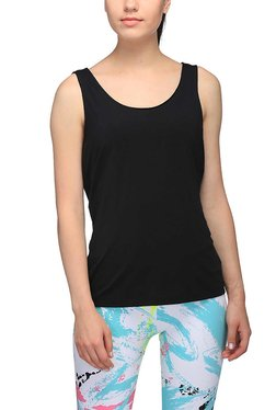 Puma Black Round Neck Evo Tank Top