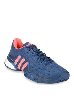 96c5c1ca8fe Adidas Barricade 2016 Boost Blue   Peach Tennis Shoes