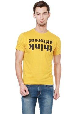 People Yellow Crew Neck T-Shirt