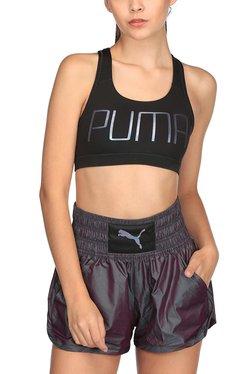 Puma Black Printed PWRSHAPE Forever Sports Bra - Mp000000002133156
