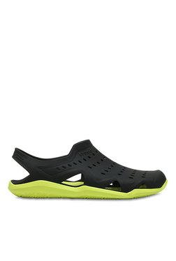 Crocs Swiftwater Wave Grey Sandals for Men online in India at Best ... a54a51c3018