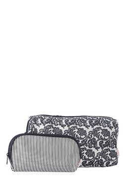 Esbeda Black & White Printed Pouch - Pack Of 2 With Case - Mp000000002136696