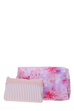 Esbeda Pink & White Printed Pouch - Pack Of 2 With Case - Mp000000002136712