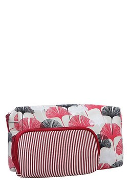 Esbeda White & Red Printed Pouch - Pack Of 2 With Case