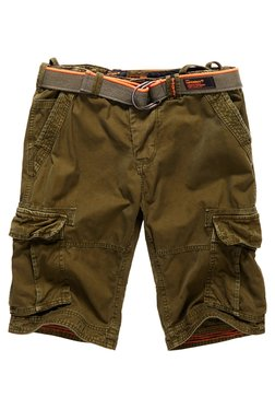 Superdry Olive Solid Mid Rise Cotton Shorts