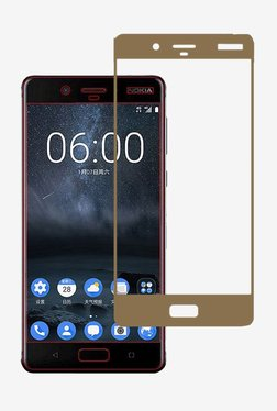Stuffcool 2.5D Tempered Screen Protector for Nokia 8 (Gold)