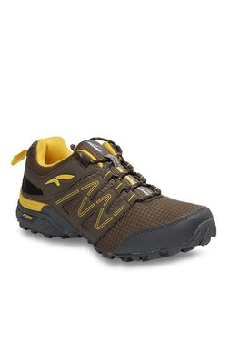 Furo By Red Chief Brown & Yellow Hiking Shoes