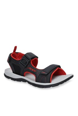 Furo By Red Chief Black & Red Floater Sandals