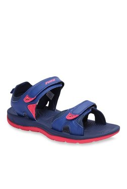 Furo By Red Chief Blue Floater Sandals