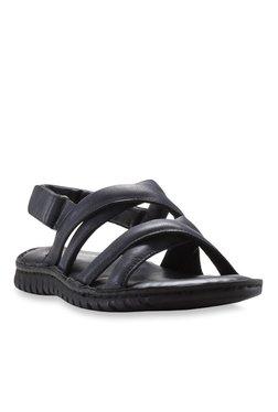 Franco Leone Black Back Strap Sandals