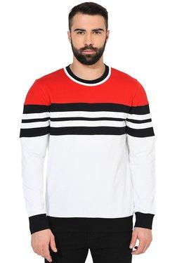 Gritstones Multicolor Regular Fit Cotton Sweatshirt