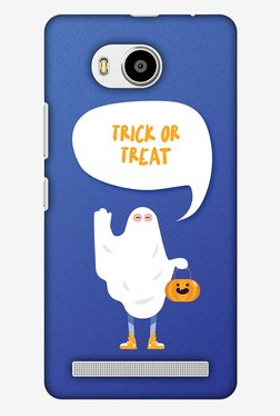 Amzer Trick Or Treat White Ghost Halloween Designer Case For Lenovo A7700