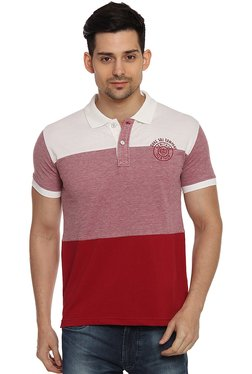 Duke Red Solid Half Sleeves Polo T-Shirt