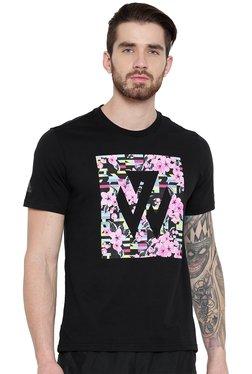Adidas Black Round Neck Printed T-Shirt 79921d6f2d