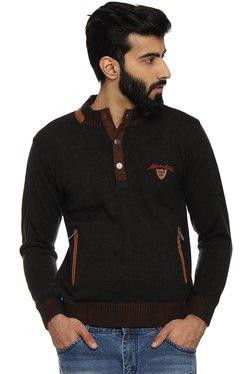 Duke Brown Regular Fit Sweater