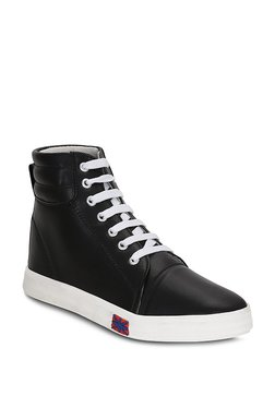 Kielz Black Casual Ankle High Sneakers