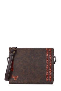 Baggit Spazzy Dark Brown Cut Work Flap Sling Bag - Mp000000002161158