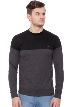 Proline Grey & Black Round Neck Sweatshirt