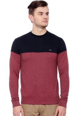 Proline Navy & Red Round Neck Sweatshirt