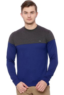 Proline Grey & Indigo Round Neck Sweatshirt
