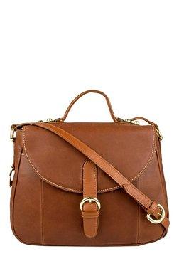 Hidesign Topaz 01 Brown Solid Leather Satchel Bag