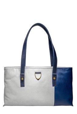 Hidesign Sonny 01 White & Blue Color Block Shoulder Bag