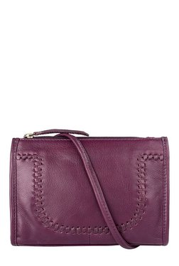 Hidesign Mina 01 Purple Interlaced Leather Sling Bag