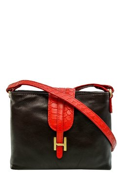 Hidesign SB Silvia 03 GE Dark Brown Solid Leather Sling Bag