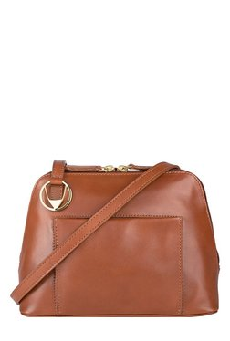 Hidesign Liscio 04 Tan Solid Leather Sling Bag