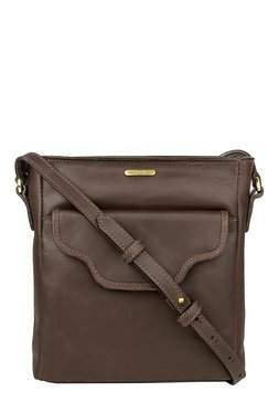 Hidesign Zaniah 03 Chocolate Brown Solid Leather Sling Bag