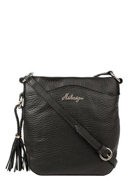 Hidesign Joplin 02 Black Solid Leather Sling Bag