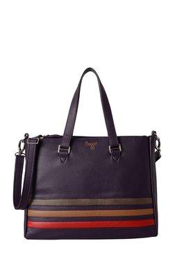 Baggit Nile Purple Striped Shoulder Bag