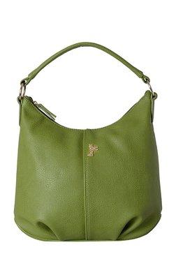 Baggit Pelican Green Solid Hobo Bag